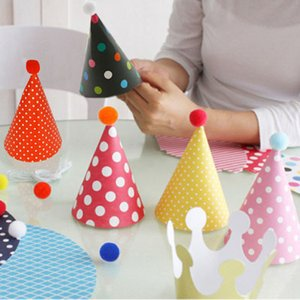 11pcs / set Coreano Cute Party Celebration Hats Birthday Hat Festive Party Fotografie Articoli Birthday Party Decorations Bambini