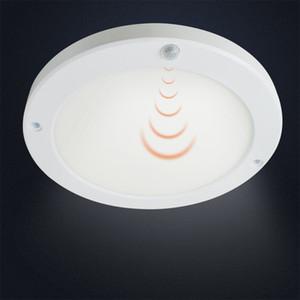18W panneau LED PIR et Capteur de lumière LED Downlight Détecteur infrarouge Mouvement du corps humain avec commutateur surface ronde de montage Lumières de plafond