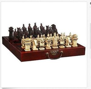 Venta al por mayor baratos 32 piezas de ajedrez chino / caja / Xian Terracota Warrior