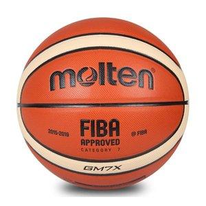 Atacado Basquete Fundido GM7X Tamanho 7 Bola de Basquete De Couro PU Ao Ar Livre Sports Training Ball Para o Campeonato do Mundo de Jogo