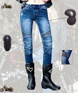 TKOSM 2017 جديد UglyBROS Featherbed - UBS02 جينز للمرأة دراجة نارية جينز سروال قاطرة الأزرق الرمادي الأسود الأزرق