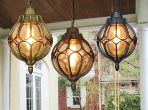 Palla antiruggine lampadario retrò all'aperto luci del giardino impermeabile vigna corridoio della lampada del balcone Villa Garden paesaggio luci