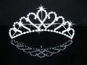 Braut Hochzeit Tiaras Klassische atemberaubende Fine Comb Prinzessin Brautschmuck Strass Kristall Tiaras Crown Haarschmuck