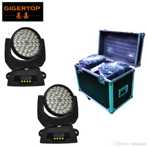 Flightcase 2IN1 Pack 36x10W Led Moving Head Wash Light RGBW Color 4in1 Tyanshine DMX Sound Auto Mode Super LED Washer CE ROHS