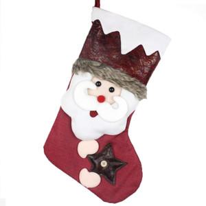 Haochu 1 قطعة جوارب عيد الميلاد هدية أكياس الحلوى الجوارب الحلي عيد الميلاد قلادة السنة الجديدة الرئيسية سوبر ماركت متجر متجر الديكور