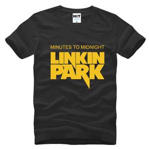 Minutos para a meia-noite Lincoln Linkin Park Rock hip hop T Shirt Dos Homens Para Homens 2017 Algodão Casual Tee Camisetas Masculina