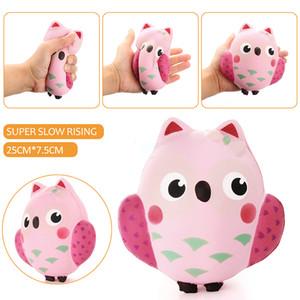 2017 новый 14 см Squishy Kawaii симпатичные розовый Сова PU мягкий медленный рост телефон ремень Squeeze перерыв детские игрушки облегчить беспокойство весело подарок