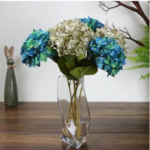 Fournitures De Fête Artificielle Hortensia Fleur 42 cm Faux Soie Simple Hortensias 6 Couleurs pour le Mariage Centres de La Maison Partie Fleurs