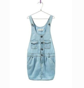 Children Baby braces denim Dress Girls Pocket cowboy Overalls Dresses Wholesale
