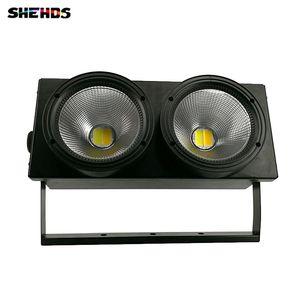2eyes 200W LED COB Blinder Blanco frío + blanco cálido Iluminación DMX Etapa de efecto de iluminación LED Blinder Light envío rápido, SHEHDS