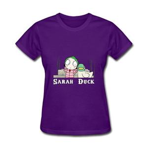 Maglietta del bicchierino del fumetto di Sarah Duck del fumetto delle donne superiori 2017 di estate