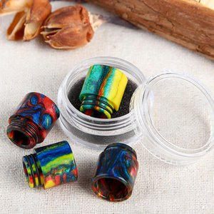Top Smok TFV8 Drip Tip Punte a goccia in resina epossidica per SMOK TFV8 Pretty pattern punte a goccia in resina 510 Mouthpiecetail Package DHL