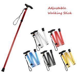 Bastón para caminar Senderismo Sendero de trekking Ultraligero Bastidores ajustables de 4 secciones Aleación de aluminio Bastón plegable Bastones para caminar