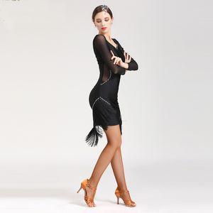 2019 stil quaste latin salsa kleider set frauen tanzen rock dame ballsaal latin tanzen kleider wettbewerb cha cha / rumba / tango rock