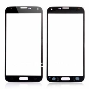 Reemplazo de lente de cristal de la pantalla táctil exterior frontal de alta calidad para Samsung Galaxy s5 i9600 negro blanco azul