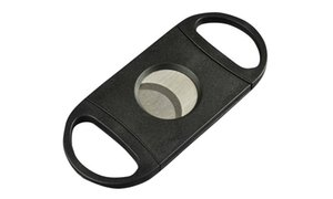 Cigar Cutter - Stainless Steel Guillotine Double Blades Knife Scissors