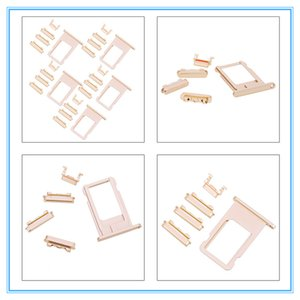 Remplacement pour iPhone 7 6 6S 6P 6SP Orginal nouveau côté Boutons Carte Sim Plateau Touches Volume d'alimentation du clavier Vibrator Gold Key Assemblée