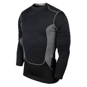 Prezzo di fabbrica all'ingrosso! Gli uomini di compressione indossare sotto Pro Base Layer a maniche lunghe T-shirt B53