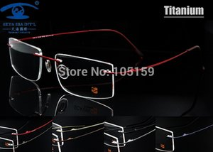 Wholesale- Computer Rimless Titanium Glasses Frame men Memory Eyeglass Frames 7 Colors Meet 1.56 1.61 Prescription Eyewear