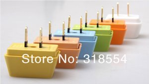 500pcs lot New 3 in 1 US To US World Travel Wall Charger Plug Adapter Converter   US Flat Pin Free Shipping 0001