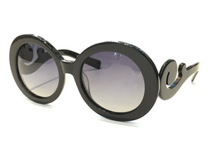 27ns Популярные Солнцезащитные очки Круглая Форма Мода Мода Большое Лицо Ретро Винтаж Летний Стиль Женщины Полный Рамка Высокое Качество С Классическими Солнцезащитками