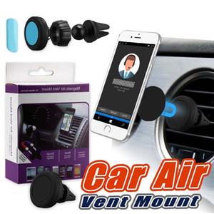 Manyetik araç tutucu araba hava dağı smartphone tutucu iphone 8 galaxy s8 cep telefonları için 360 derece rotasyon araba hava firar dağı perakende kutusunda
