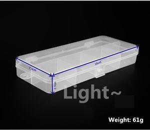 18*7.5cm Transparent lightweight white 5 grid storage hook - type fishing gear tool pvc box 1606746
