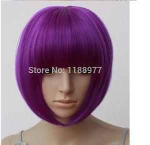 Mujeres atractivas BOBO Head Style Straight Bang pelucas cortas Hair Cap Hairnet 8 colores envío gratis