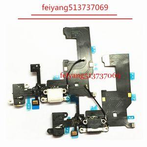100pcs alta qualidade carregamento auscultadores Áudio Jack porta USB conector dock cabo flexível para iphone 5 por DHL EMS