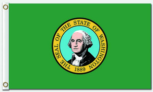 Drapeau des États-Unis États-Unis États-Unis Américaine Bannière d'État Conception volante 3x5 ft 100D Polyester Bannières