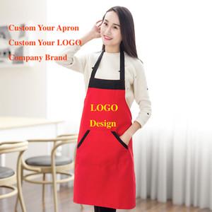 Пустой фартук мужская и женская бытовая водонепроницаемый необрастающие моды фартук пользовательский дизайн логотип кухня реклама фартуки Оптовая