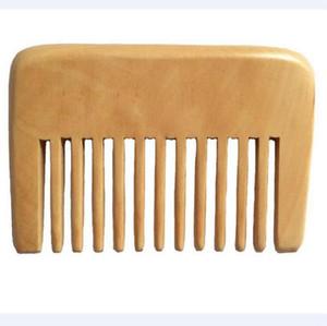 Petite Poche Bois Peigne Large Dent Afro Pick Cheveux Peigne À La Main En Bois De Santal Anti Statique Hairloss Massage Barbe Soins Peigne