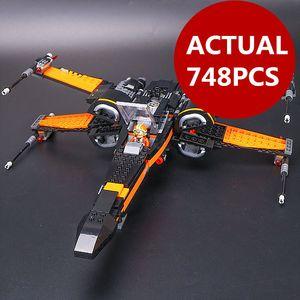 05004 Poe X-крыло истребитель Building Blocks истребитель Собранный истребитель Совместимость с Игрушки Star X Wing Игрушки