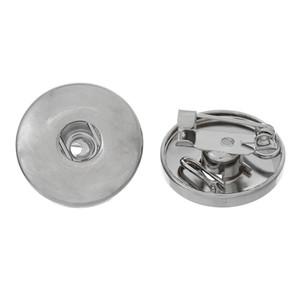 """Venta caliente del envío gratis nuevo 20PCs broches redondo tono de plata en forma para botones de presión de 19 mm (6/8 """") diámetro. Fabricación de joyas, bricolaje"""