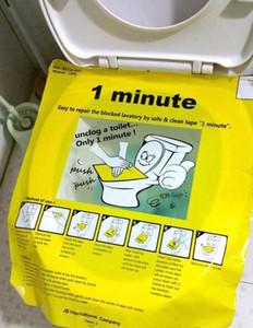1 dakika pongtu tuvalet tek kullanımlık etiket piston çıkartmaları araştırmak araçları için suit koltuk ve kat tuvalet 3 levhalar Hijyenik Gücü Hiçbir Kirli