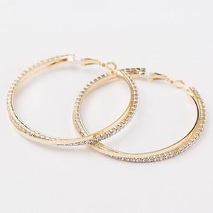 La sposa gioielli Personalità Super Big Circles Orecchini a cerchio per le donne Moda gioielli in oro-colore Bijoux Orecchini di tendenza