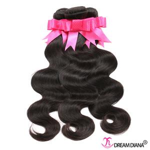 EXTENSIONS DE CHILY VIERGE MALAISIENSIENSE Vague corporelle Human Hair Weave Péruvien Cheveux Brésilien 3 ou 4 Bundles Remy Couleur naturelle