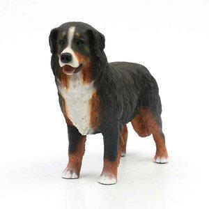Необычайно живой щенок высокого качества ручной работы Бернская горная собака фигурка - большой щенок 7.4 дюймов