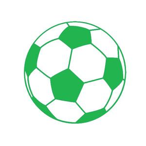 En gros 20 pcs / lot Artisanat Vinyle Stickers Autocollants De Fenêtre De Voiture Rayures Autocollants Die Cut Bumper Accessoires Jdm Ballon De Football Graphique