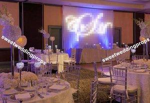 Trompete de vidro claro vaso de mesa de casamento peça central para decoração de casamento de penas de avestruz branco gatsby mesa central