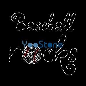 Бейсбол Рок Горный Хрусталь Передачи Железа На Горячей Исправить Аппликация Горячей Исправить Мотив