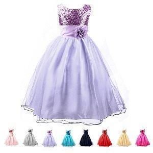 Brillantes lentejuelas y encaje de tul en capas vestido de fiesta vestido de fiesta de bodas, bautizo, princesa de hadas, fiesta de cumpleaños y otro vestido