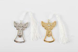 Abrelatas de botella de plata del diseño del ángel de la plata del oro para la boda favorece los regalos del partido del acontecimiento Envío libre 50pcs / lot al por mayor