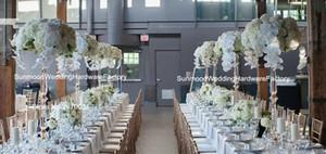 Luxo de casamento de alta acrílico linda flor stand centerpiece para decoração de casamento barato