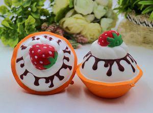 뜨거운 판매 squishy strawbery 아이스크림 빵 점보 kawaii 시뮬레이션 아이스크림 squysies 느린 상승 Squishies 향기로운 레몬 quishy 장난감