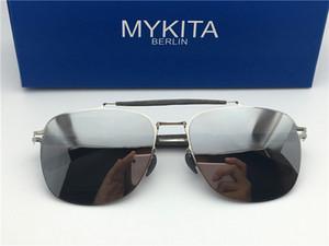 Neue mykita ELON-Sonnenbrille für Herren mit Pilotenspiegel und ultraleichtem Rahmen. Memory Alloy übergroße Sonnenbrille für cooles Outdoor-Design für Damen