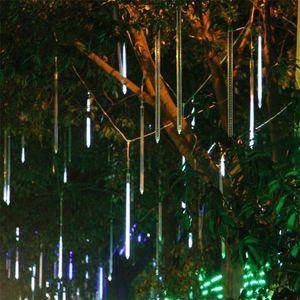 30LED luzes 60cm / 36LED luzes 80cm / 48LED luzes 100cm Meteor chuva luz enfeite de natal luz fada casamento flash luzes LED