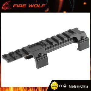 FIRE WOLF Hunting Gear Alluminio Airsoft MP5 G3 20mm Scope Mount Rail Picatinny Base MP5 Staffa per binario guida a coda di rondine