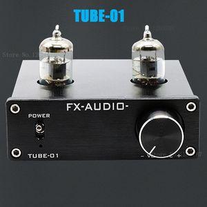 Freeshipping جديد FX-AUDIO TUBE-01 الصفراوية preamp أنبوب مكبر للصوت preamp الصفراء العازلة 6J1 مركبتي المضخم dc12v