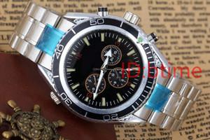Negro Nueva mecánico automático de los hombres relojes deportivos Naranja Bisel de acero inoxidable de James Bond 007 para hombre de la pulsera de reloj de buceo deportivo Skyfall